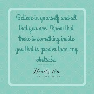 Believe in yourself and all that there is something inside you that is greater that any obstacle – Christian D Larson