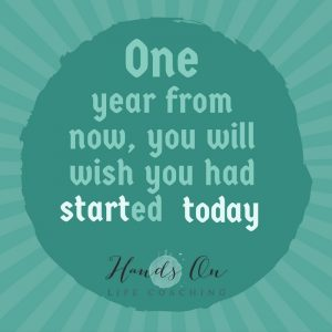 One year from now you will wish you started today