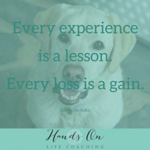 Learning from endings. Every experience is a lesson. Every loss is a gain. Sathya Sai Baba