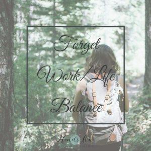 Work/Life Balance Image